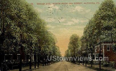 Broad Ave. - Altoona, Pennsylvania PA Postcard