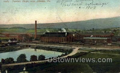 Tuniatat Shops - Altoona, Pennsylvania PA Postcard