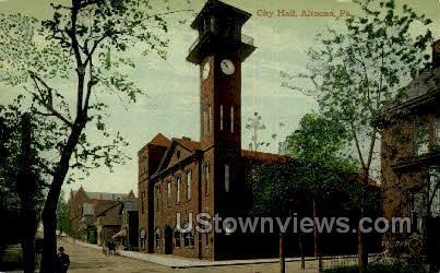 City Hall, Altoona - Pennsylvania PA Postcard