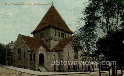 First Presbyterian Church - Altoona, Pennsylvania PA Postcard