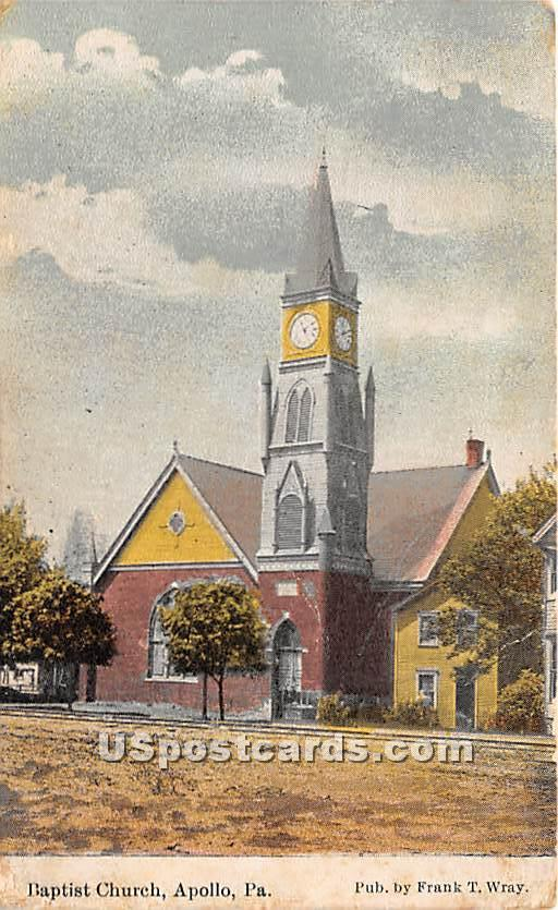 Baptist Church - Apollo, Pennsylvania PA Postcard