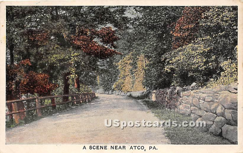 A Scene Near - Atco, Pennsylvania PA Postcard