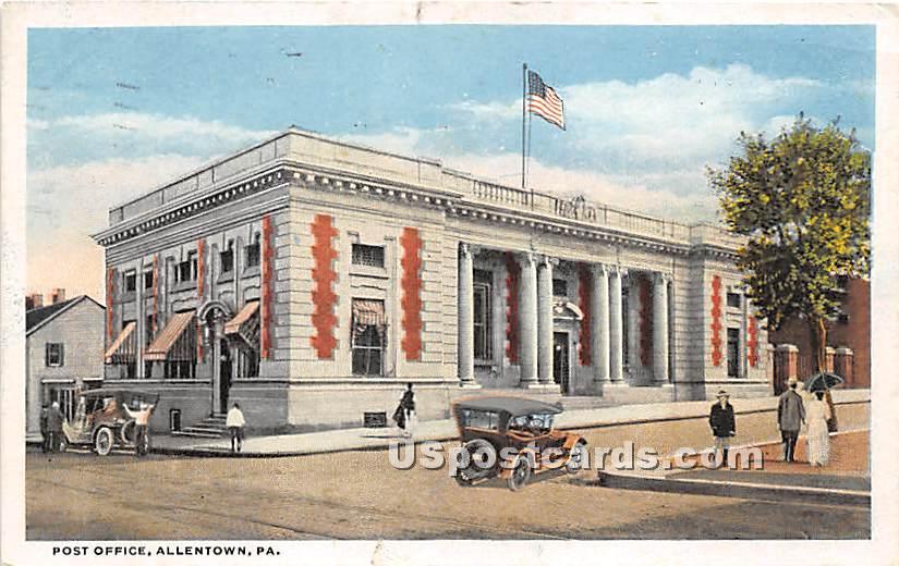 Post Office - Allentown, Pennsylvania PA Postcard