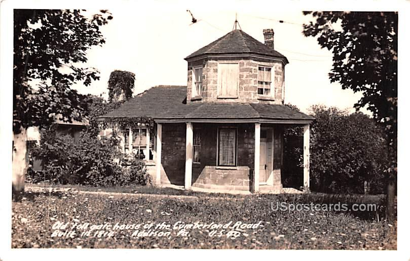 Old Toll Gate House of the Cumberland Road - Addison, Pennsylvania PA Postcard