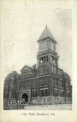 City Hall, Bradford - Pennsylvania PA Postcard