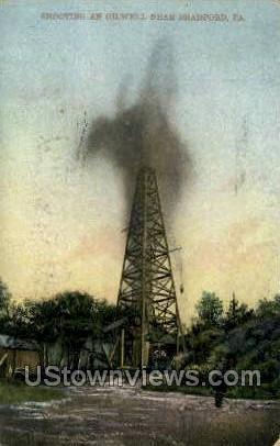 Oil Well, Bradford - Pennsylvania PA Postcard