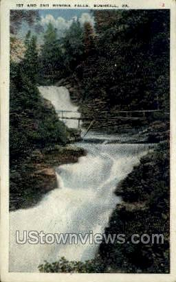 1st & 2nd Winona Falls - Bushkill, Pennsylvania PA Postcard