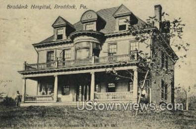 Braddock Hospital - Pennsylvania PA Postcard