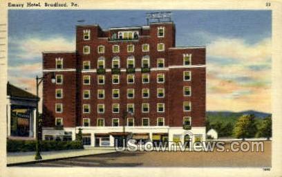 Emery Hotel - Bradford, Pennsylvania PA Postcard