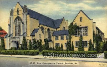 First Presbyterian Church - Bradford, Pennsylvania PA Postcard