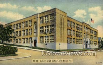 Junior High School - Bradford, Pennsylvania PA Postcard