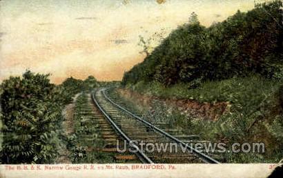 B.B. & K. Narrow Gauge R.R. - Bradford, Pennsylvania PA Postcard