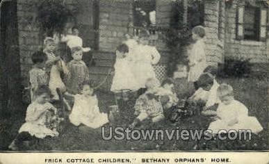 Frick Cottage Children - Misc, Pennsylvania PA Postcard
