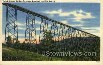 Head Kinzua Bridge - Bradford, Pennsylvania PA Postcard
