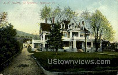 L.A. Mallory, Jr. Residence - Bradford, Pennsylvania PA Postcard