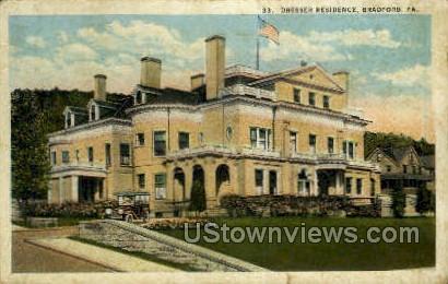 Dresser Residence - Bradford, Pennsylvania PA Postcard
