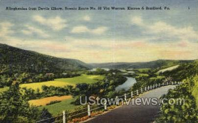 Devils Elbow - Bradford, Pennsylvania PA Postcard