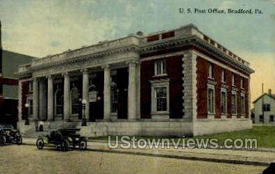 US Post Office, Bradford - Pennsylvania PA Postcard