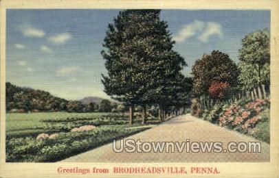 Brodheadsville, Pennsylvania, PA, Postcard