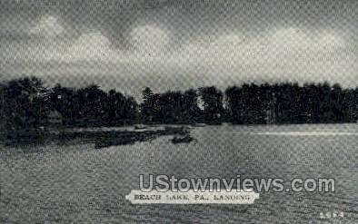 Landing, Beach Lake - Pennsylvania PA Postcard