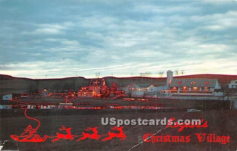 Koziar's Christmas Village - Bernville, Pennsylvania PA Postcard