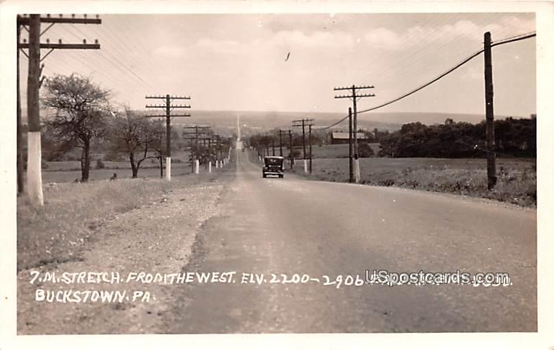 7M Stretch from the West - Buckstown, Pennsylvania PA Postcard