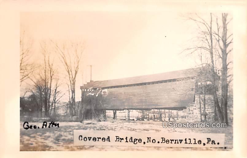 Covered Bridge - Bernville, Pennsylvania PA Postcard