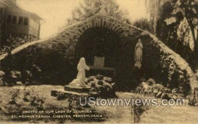 Grotto of Our Lady of Lourdes - Chester, Pennsylvania PA Postcard