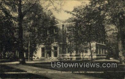 Bosler Library, Dickinson College - Carlisle, Pennsylvania PA Postcard