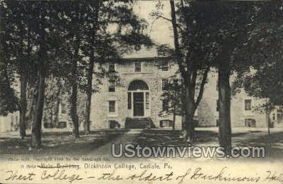 Dickinson College, Main Bldg. - Carlisle, Pennsylvania PA Postcard
