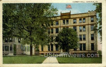 Conway Hall - Carlisle, Pennsylvania PA Postcard