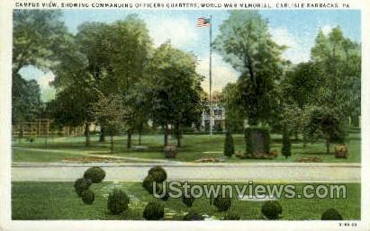 Commanding Officers Quarters - Carlisle, Pennsylvania PA Postcard