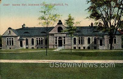 Science Hall, Dickinson College - Carlisle, Pennsylvania PA Postcard