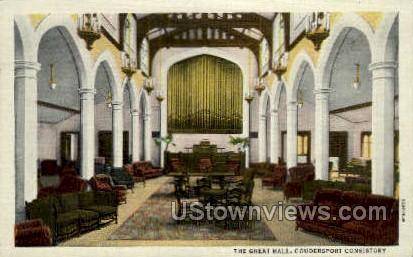 The Great Hall - Coudersport, Pennsylvania PA Postcard