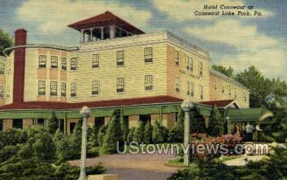Hotel Conneaut - Conneaut Lake Park, Pennsylvania PA Postcard