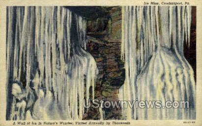 Ice Mine - Coudersport, Pennsylvania PA Postcard