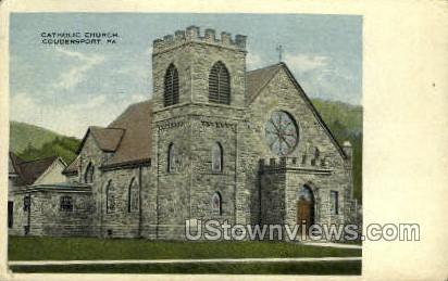 Catholic Church - Coudersport, Pennsylvania PA Postcard