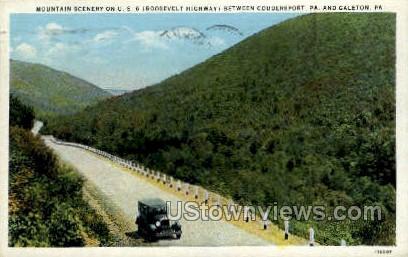 Roosevelt Highway - Coudersport, Pennsylvania PA Postcard