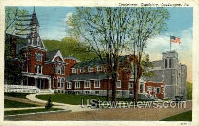 Coudersport Consistory - Pennsylvania PA Postcard