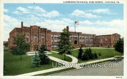 Lamberton Technical High School - Carlisle, Pennsylvania PA Postcard