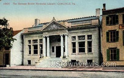 Herman Bosler Memorial Library - Carlisle, Pennsylvania PA Postcard