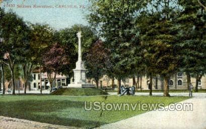 Soldiers Monument - Carlisle, Pennsylvania PA Postcard