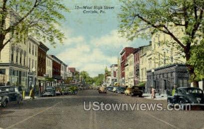 West High Street - Carlisle, Pennsylvania PA Postcard