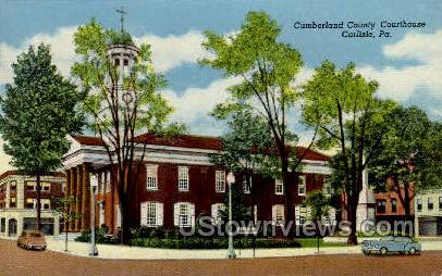 Cumberland County Courthouse - Carlisle, Pennsylvania PA Postcard
