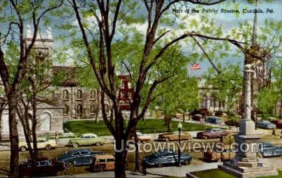 Public Square, Carlisle - Pennsylvania PA Postcard