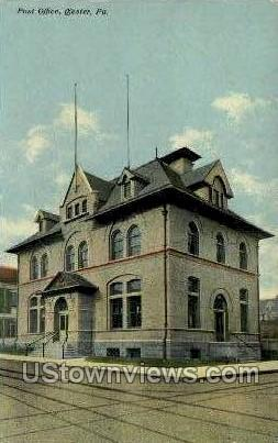 Post Office, Chester - Pennsylvania PA Postcard