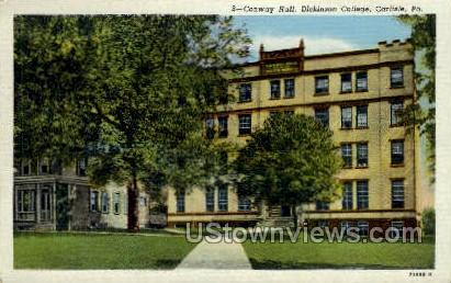 Conway Hall, Dickinson College - Carlisle, Pennsylvania PA Postcard