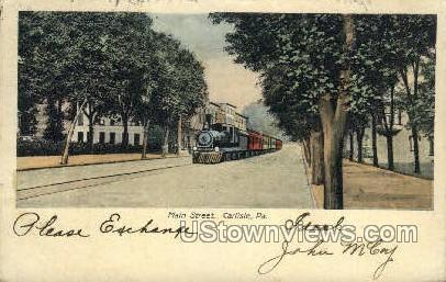 Main Street - Carlisle, Pennsylvania PA Postcard