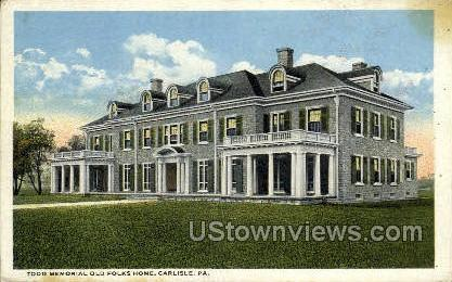 Todd Memorial Old Folks Home - Carlisle, Pennsylvania PA Postcard