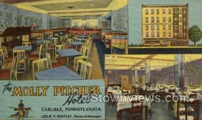 The Molly Pitcher Hotel - Carlisle, Pennsylvania PA Postcard